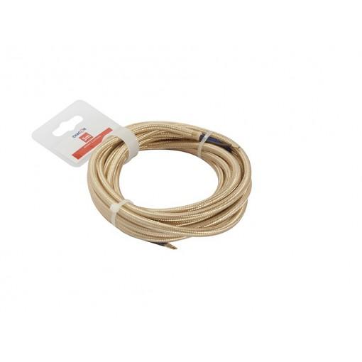 Kabel HO3VV-F  2 x 0,75mm2 twisted- 3 m - goud
