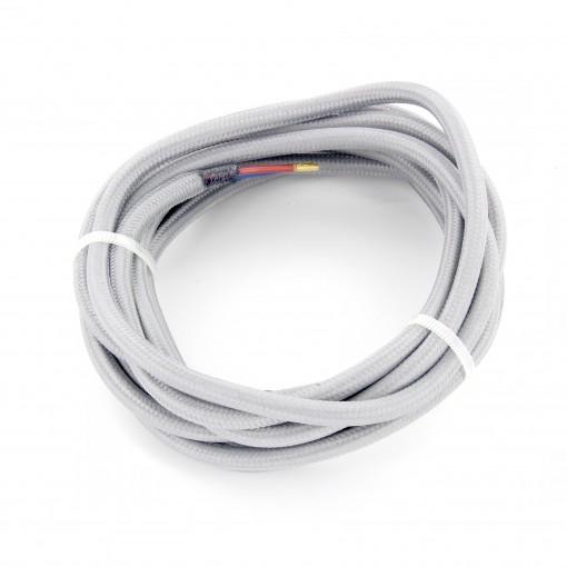 Kabel HO3VV-F  2 x 0,75mm2- 3m - grijs