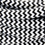 Kabel HO3VV-F  2 x 0,75mm2- 3m - zwart/wit