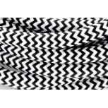 Cabos texteis HO3VV-FE 2 x 0,75mm2 10 m Black WhiteE