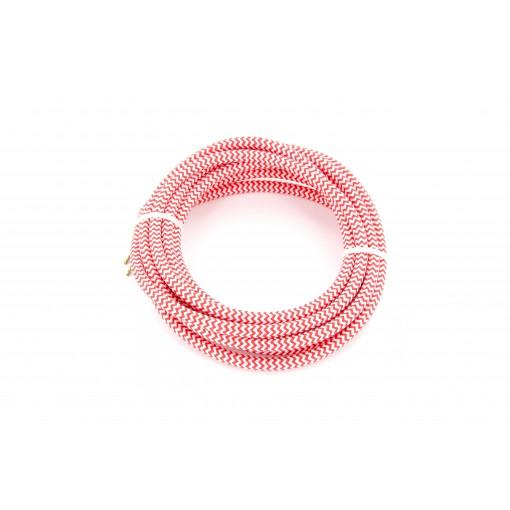 Kabel HO3VV-F  2 x 0,75mm2- 3m - rood/wit