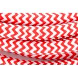 Cables textil HO3VV-FE 2 x 0,75mm2 3 m Rojo Blanco