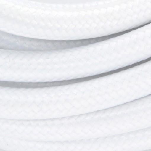 Câble HO3VV-F  2 x 0,75mm2 - 3 m - textile blanc