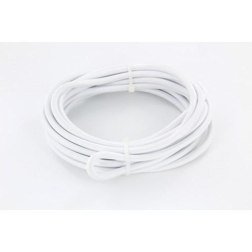 Cables textil HO3VV-FE 2 x 0,75mm2 3 m Blanco