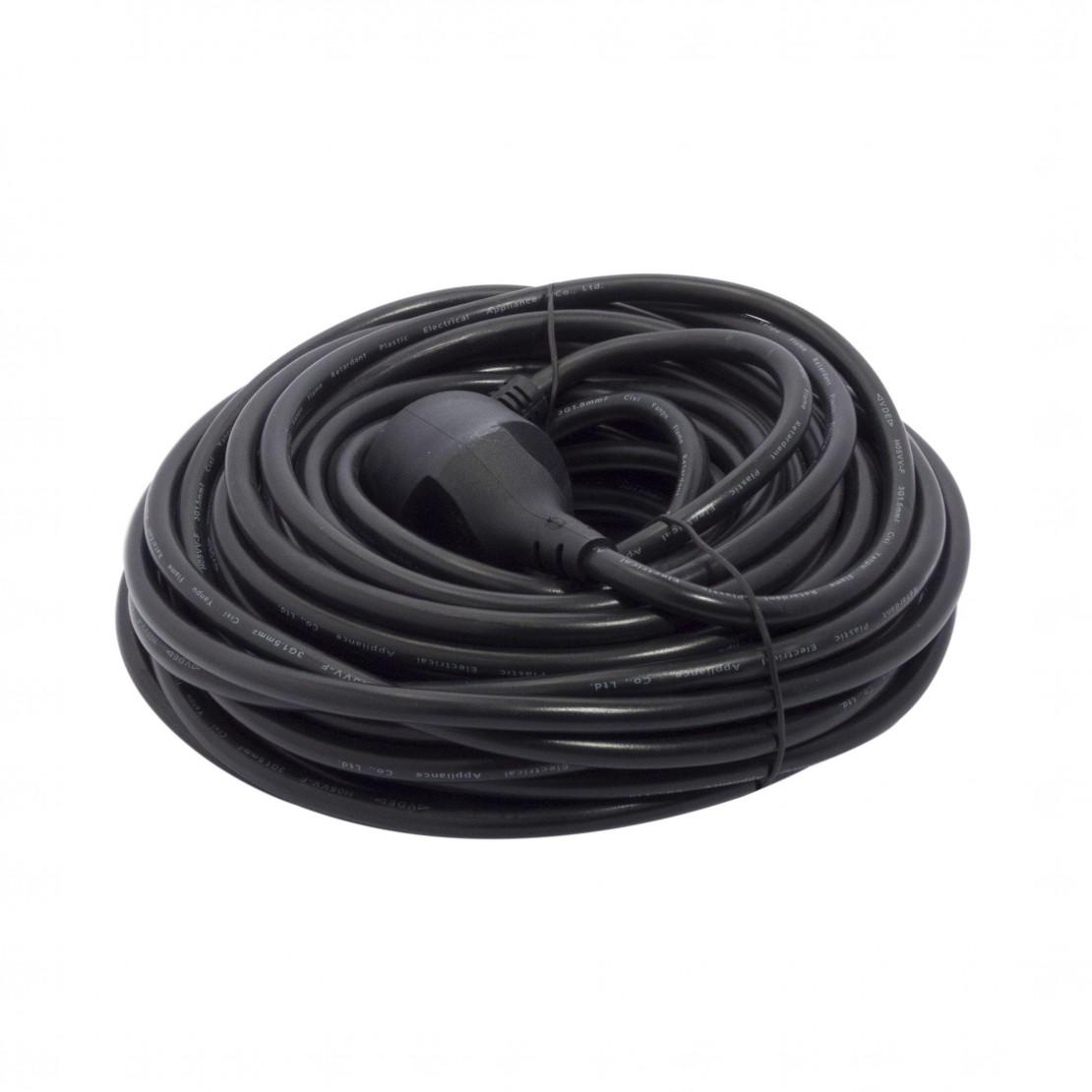 Verlengsnoer - HO5VVF - 3 x 1,5mm2 - 20m- zwart