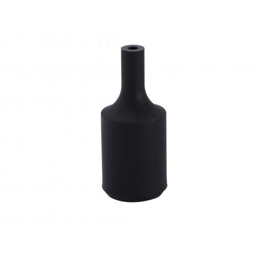 Casquilho E27 silicone Preto