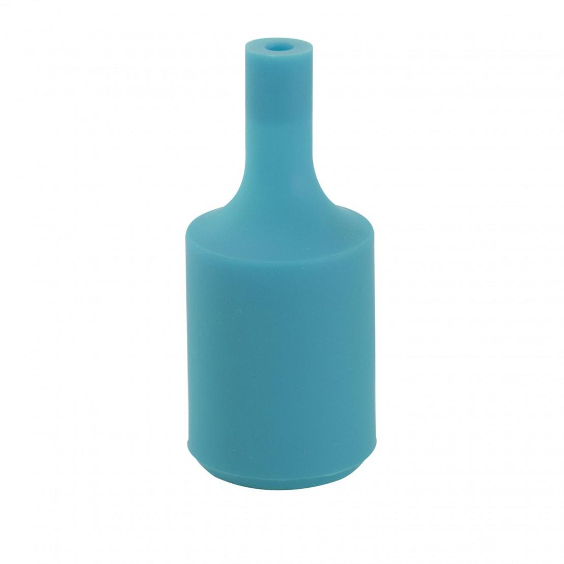 Casquilho E27 silicone Pavao azul