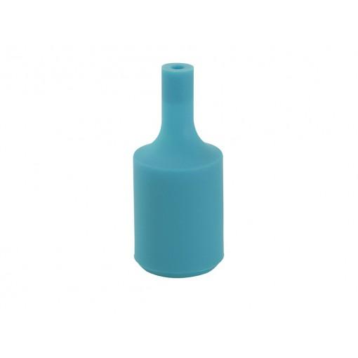 Douille silicone - bleu paon