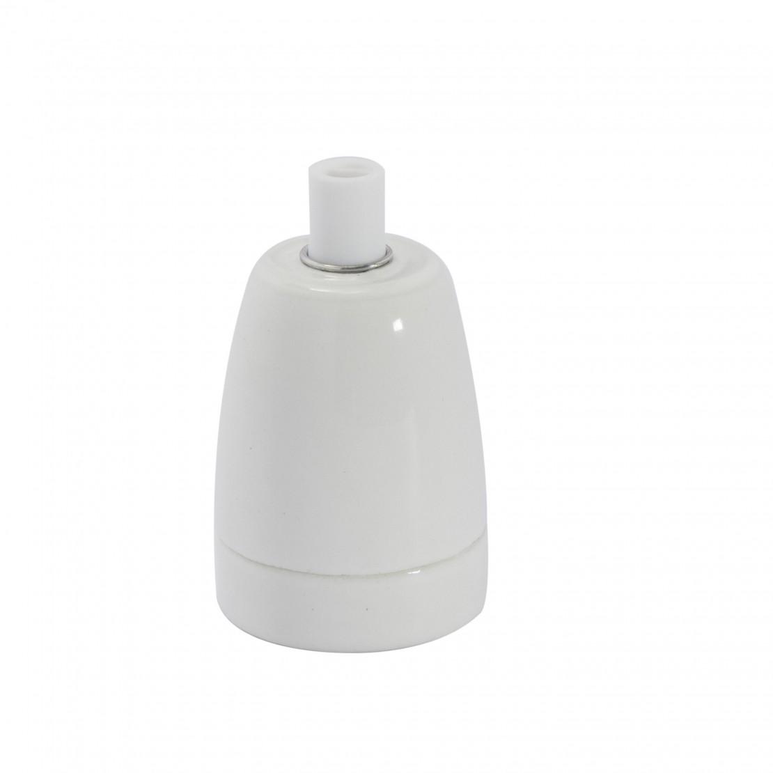 Portalamparas E27 ceramica Blanco