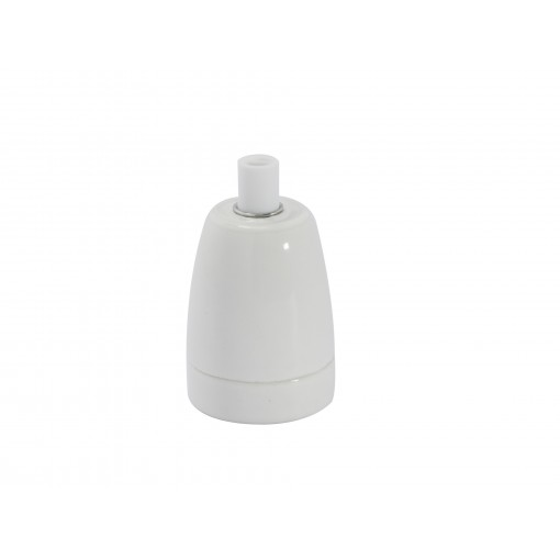 Casquilho E27 ceramica Branco