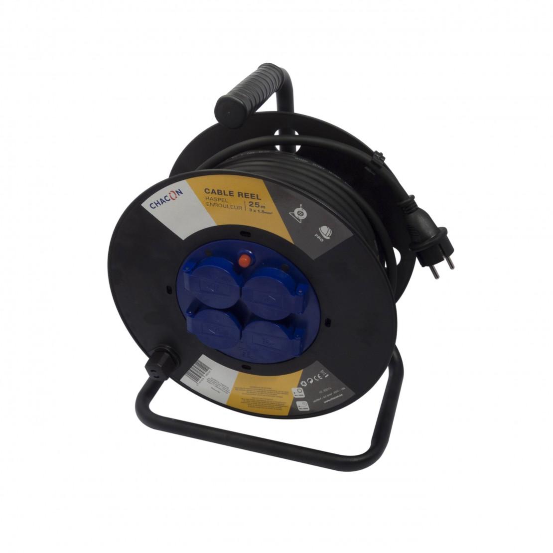 Enrollador 4x16A - 25m - 3x1,5mm2(SCH)