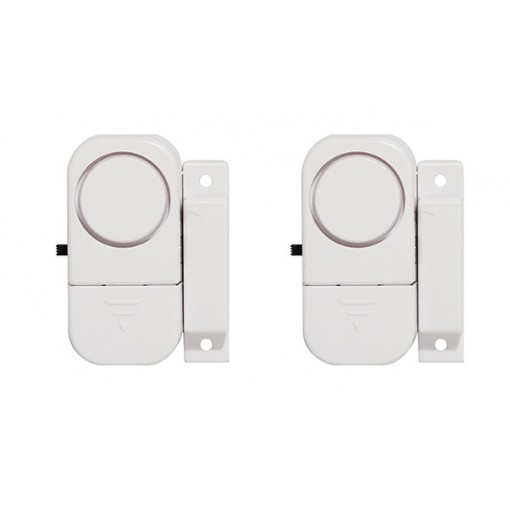 2 Mini alarmes -  Detectores magnéticosde abertura de portae/ou janela