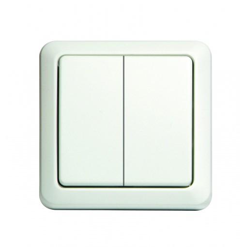 Interruptor sem fios duplo (branco)