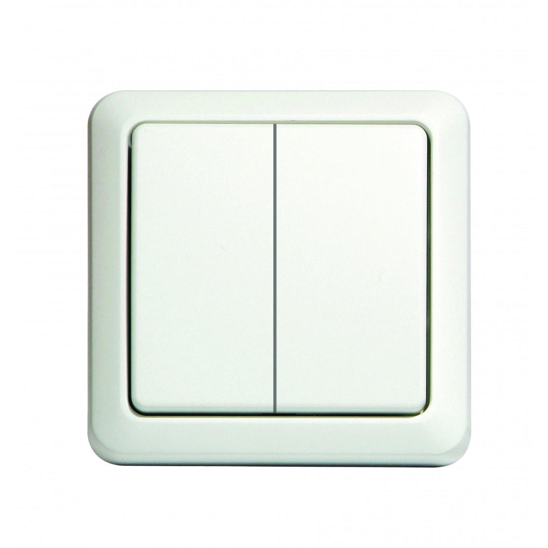 Interrupteur sans fil double ( blanc)