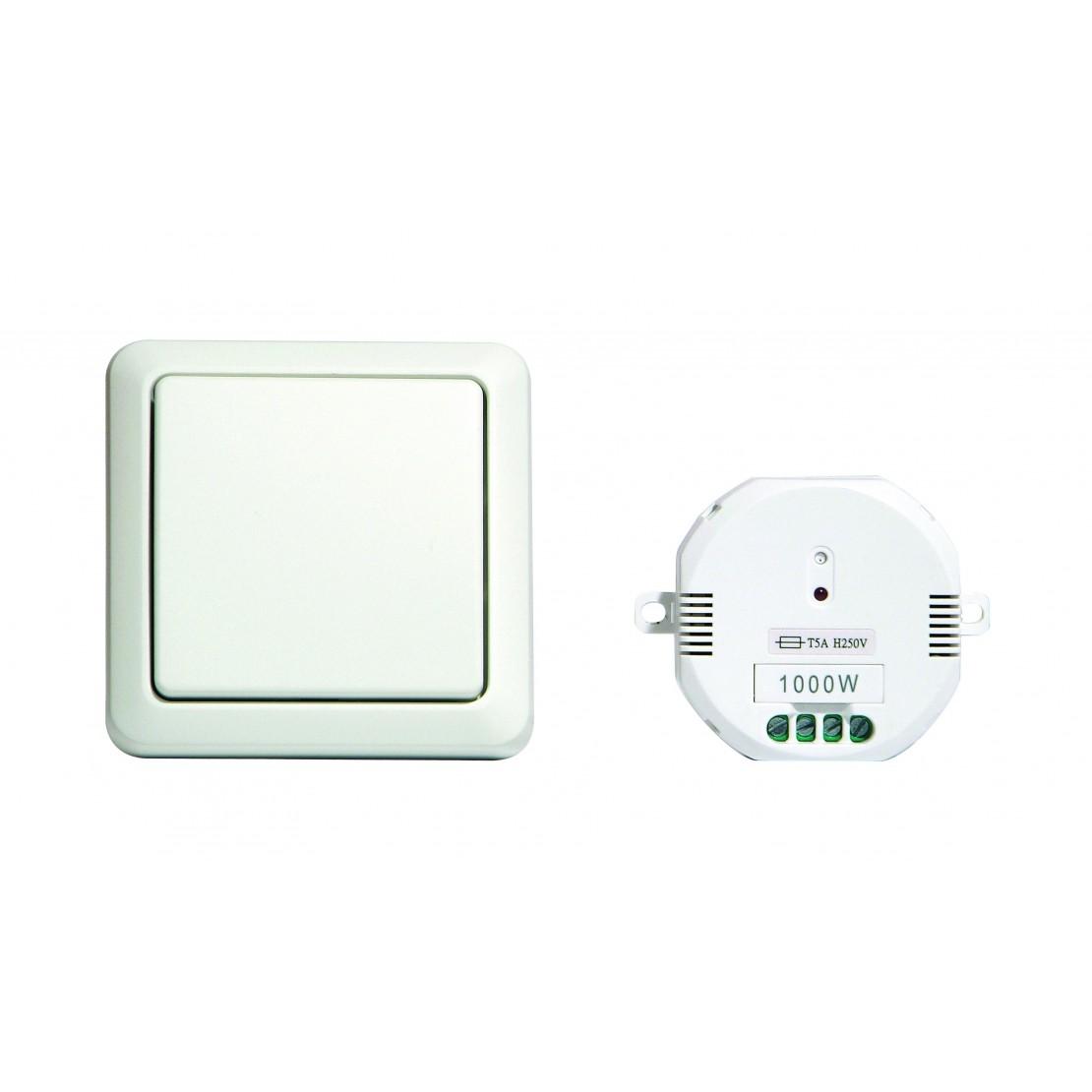 Interruptor sem fios + MóduloOn/Off(blanco, 1000W)