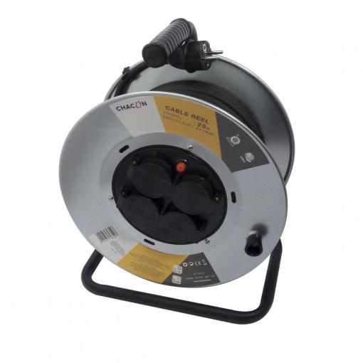 Enrouleur 4x16A Aluminium HO7R N-F 3 x 1,5mm² - 25 m (SCH)