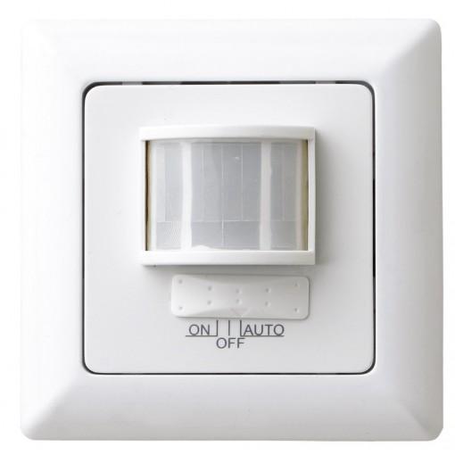 Detector de movimientocon interruptor 180° encastrar - Blanco