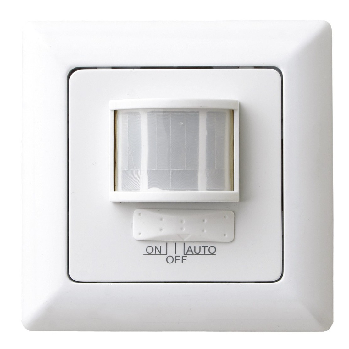 Detector de movimentocom interruptor 180° Encastrar - Branco
