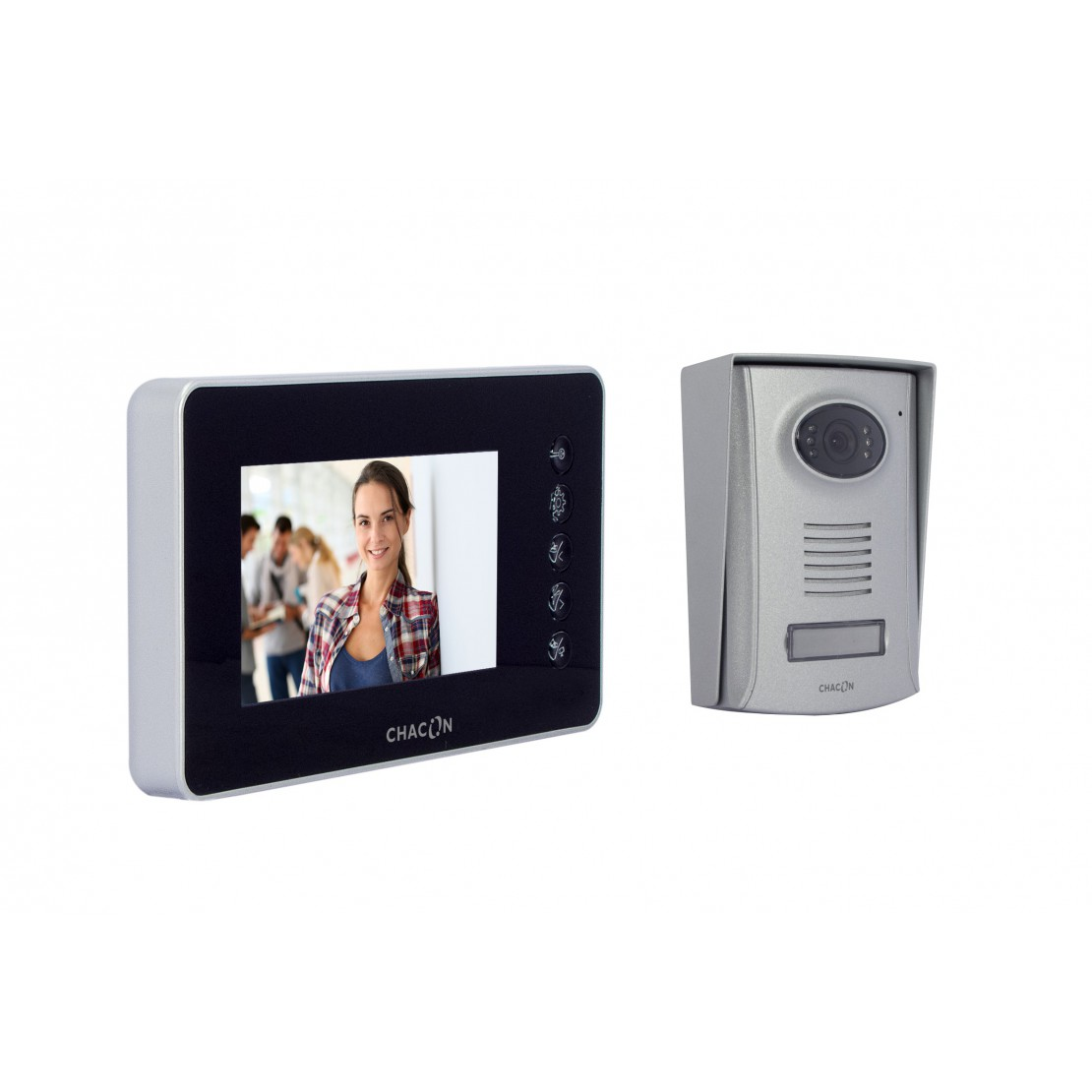 "Hands-free videophone with 4"" screen"