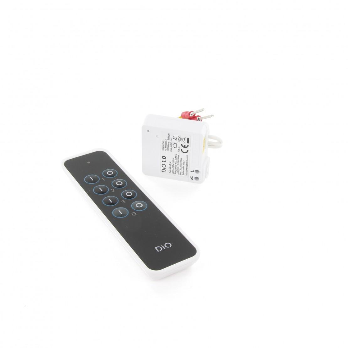 Micromódulo de iluminação e telecomando de 3 canais