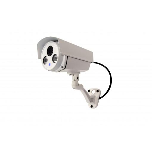 Dummy aluminium outdoor camera with blue LED