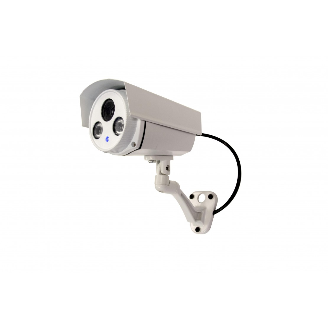 Dummy aluminium outdoor camera with blue LED