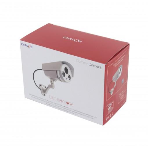 Caméra factice extérieure en aluminium avec LED bleue
