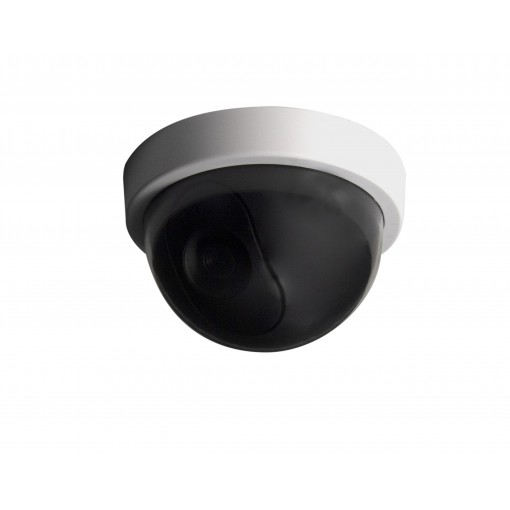 Dummy dome camera with blue LED