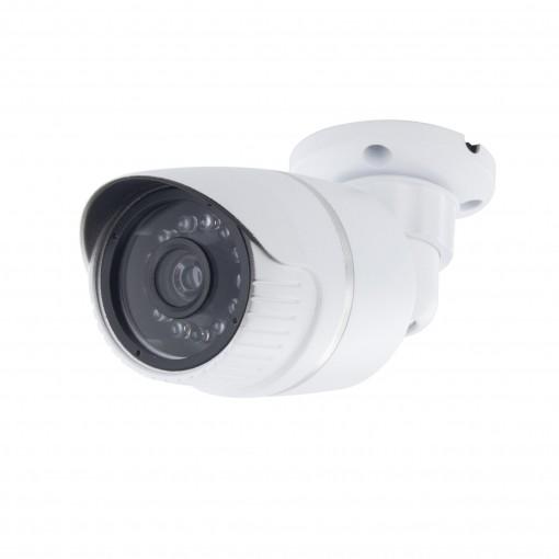 Caméra factice en aluminium avec LED bleue