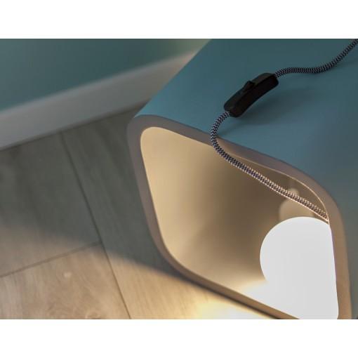 Cables textil con enchufe e interruptor
